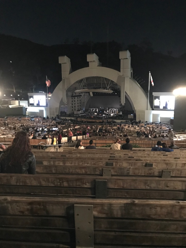 Hollywood Bowl stage before a gig
