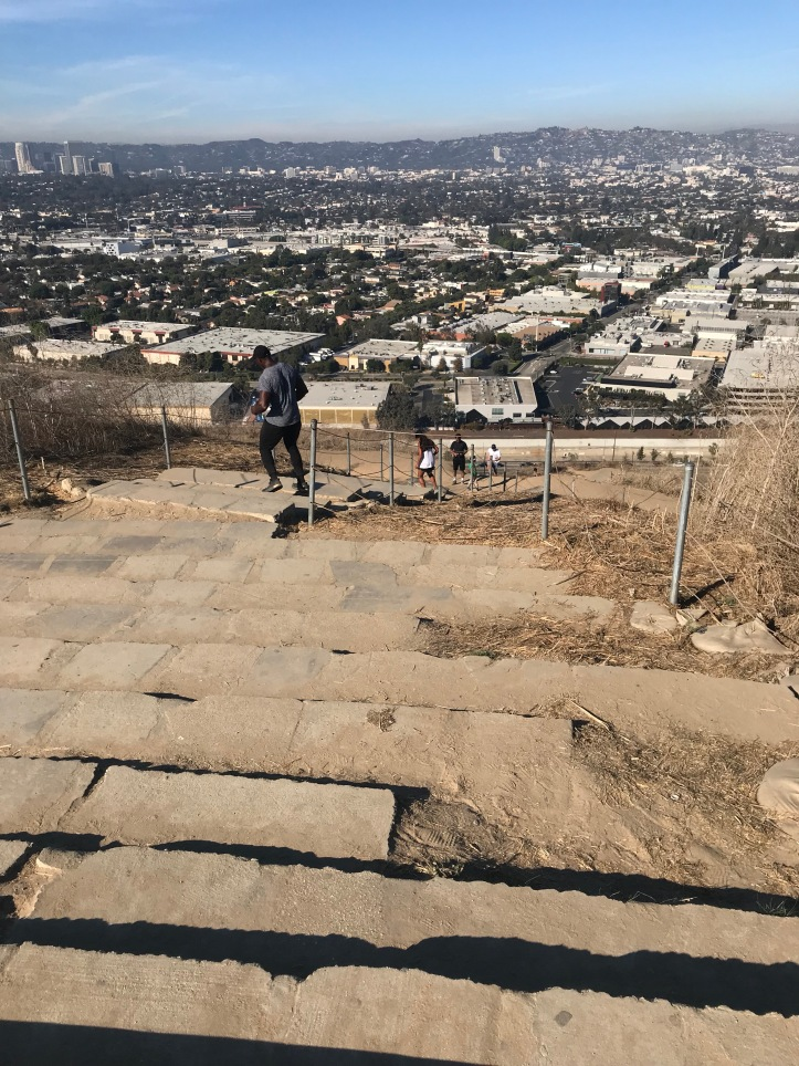 Looking down the Culver City stairs