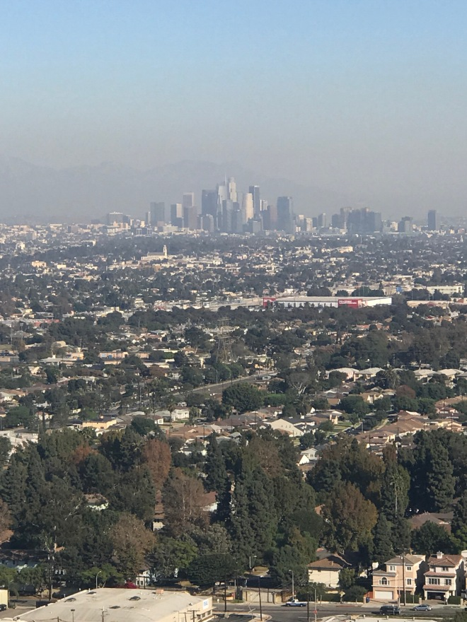 Views across LA from Baldwin Hills Scenic lookout